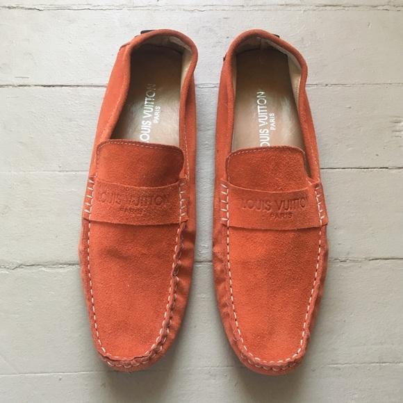 4ea9e0e7ba5 Men's Louis Vuitton Suede Driving Moccasin Loafers